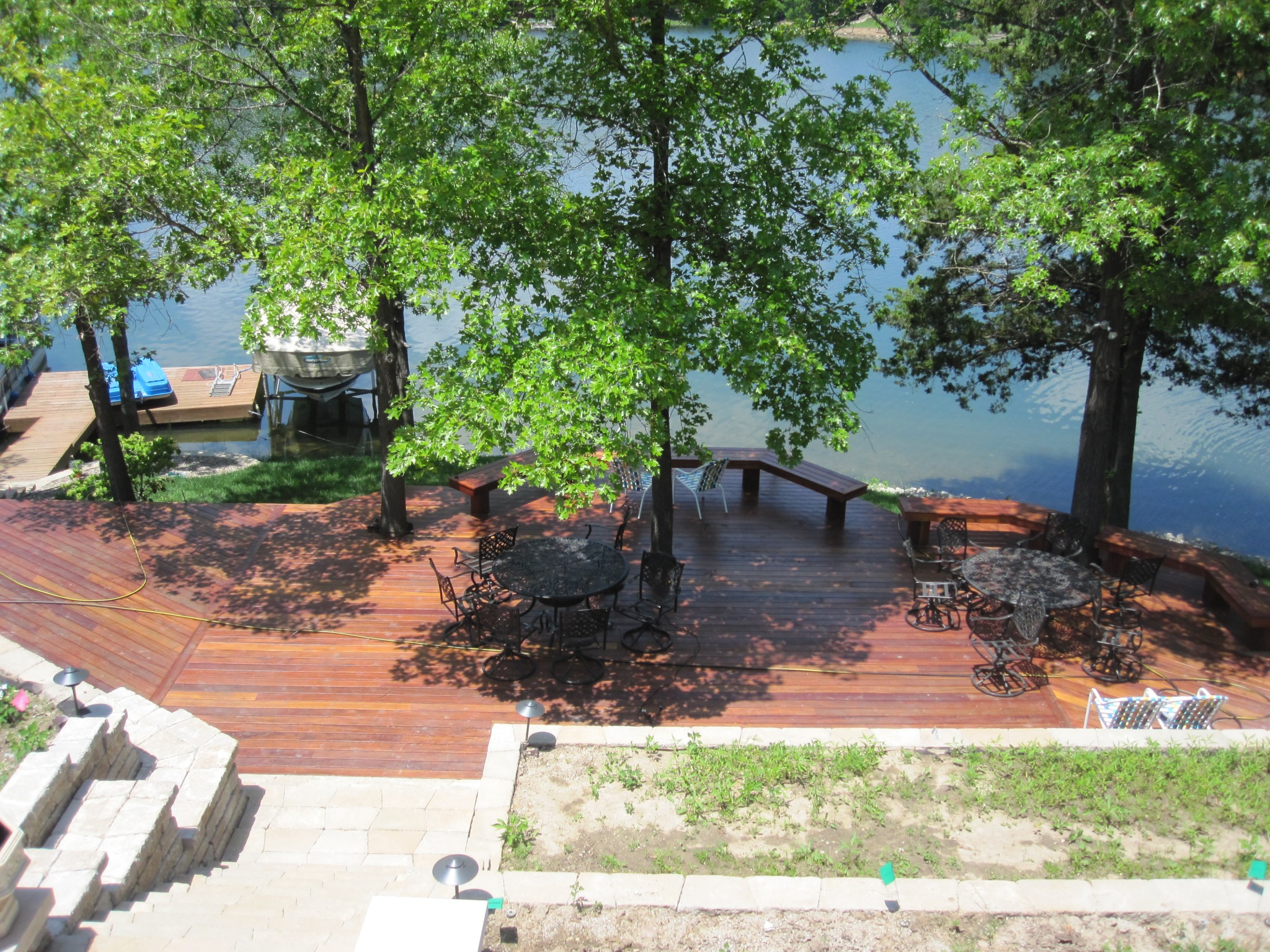 waterfront deck construction